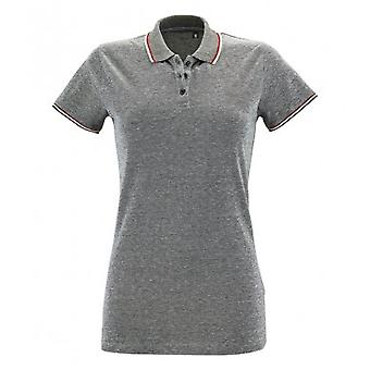 SOLS Womens/Ladies Paname Heather Piqu Polo Shirt
