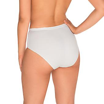 Sans Complexe 1537-Blanc Women's Perfect Lift White Light Control Slimming Shaping High Waist Brief