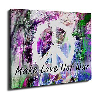 Make Love Not Mode Wand Kunst Leinwand War 50 x 30 cm | Wellcoda