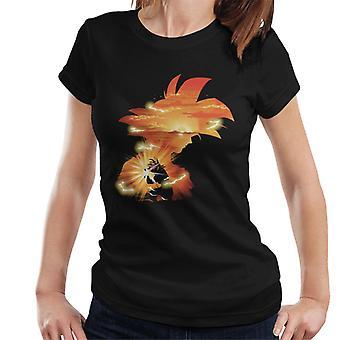 Dragon Ball Z Goku Sonnenuntergang Damen T-Shirt