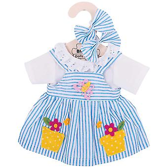 Bigjigs Toys Blue Striped Rag Doll Dress for 34cm Soft Doll
