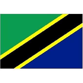 Tanzania flagg 5 ft x 3 ft med hull For hengende