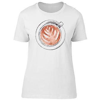 Cup Of Cappuccino, Coffee Lovers Tee Women's -Image by Shutterstock