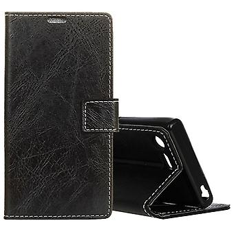 Tasca portafoglio premium nero per Sony Xperia XZ1 compatto sacchetto custodia protettiva nuovo