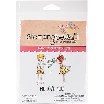 Stamping Bella Cave Kids Cling Stamp Set-Couple
