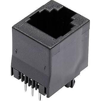 Modular mounted socket Socket, vertical vertical Number of pins: 6 MJTN66A Black econ connect MJTN66A 1 pc(s)