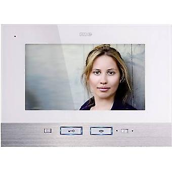 m-e modern-electronics VDV 507 WW Video door intercom Corded Indoor panel Detached White, Stainless steel
