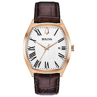 Bulova Leather Mens Watch 97B173