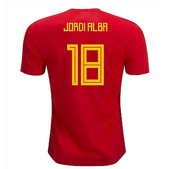 2018-19 Spain Home Shirt (Jordi Alba 18) - Kids
