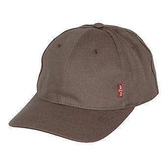 Levi's Classic Twill Curve Cap ~ Red Tab grey