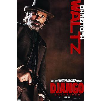 Django unchained poster Dr. King Schultz Christoph Waltz exclusieve poster door Christoph Waltz (Academy Award-winnaar)