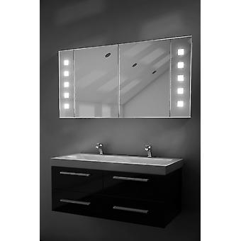 Vishnu Demister Bathroom Cabinet With Demister, Sensor & Shaver k124
