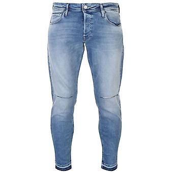 Jack and Jones Mens JI Glenn Kn Rip avsmalnande Jeans byxor byxor bottnar