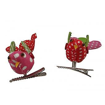 Gisela Graham Patchwork Birds on Clip Easter Decorations