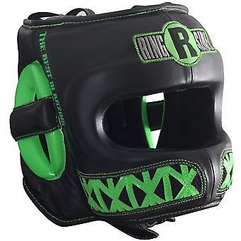 Ringside Youth Face Saver Boxing Headgear - Black/Lime