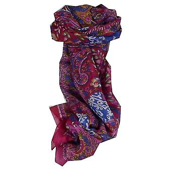 Mulberry Silk Traditional Long Scarf Nam Pink by Pashmina & Silk