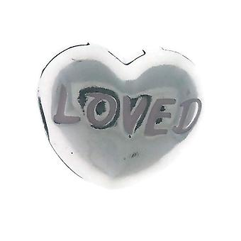 PANDORA Loved Heart Clip Charm 925 Sterling Silver