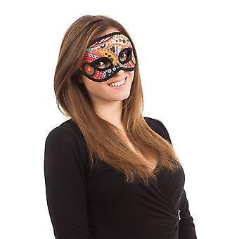 Psychedellic Maske auf Brillengestell