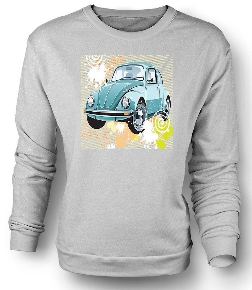 Mens Sweatshirt VW Beetle - Pop Art