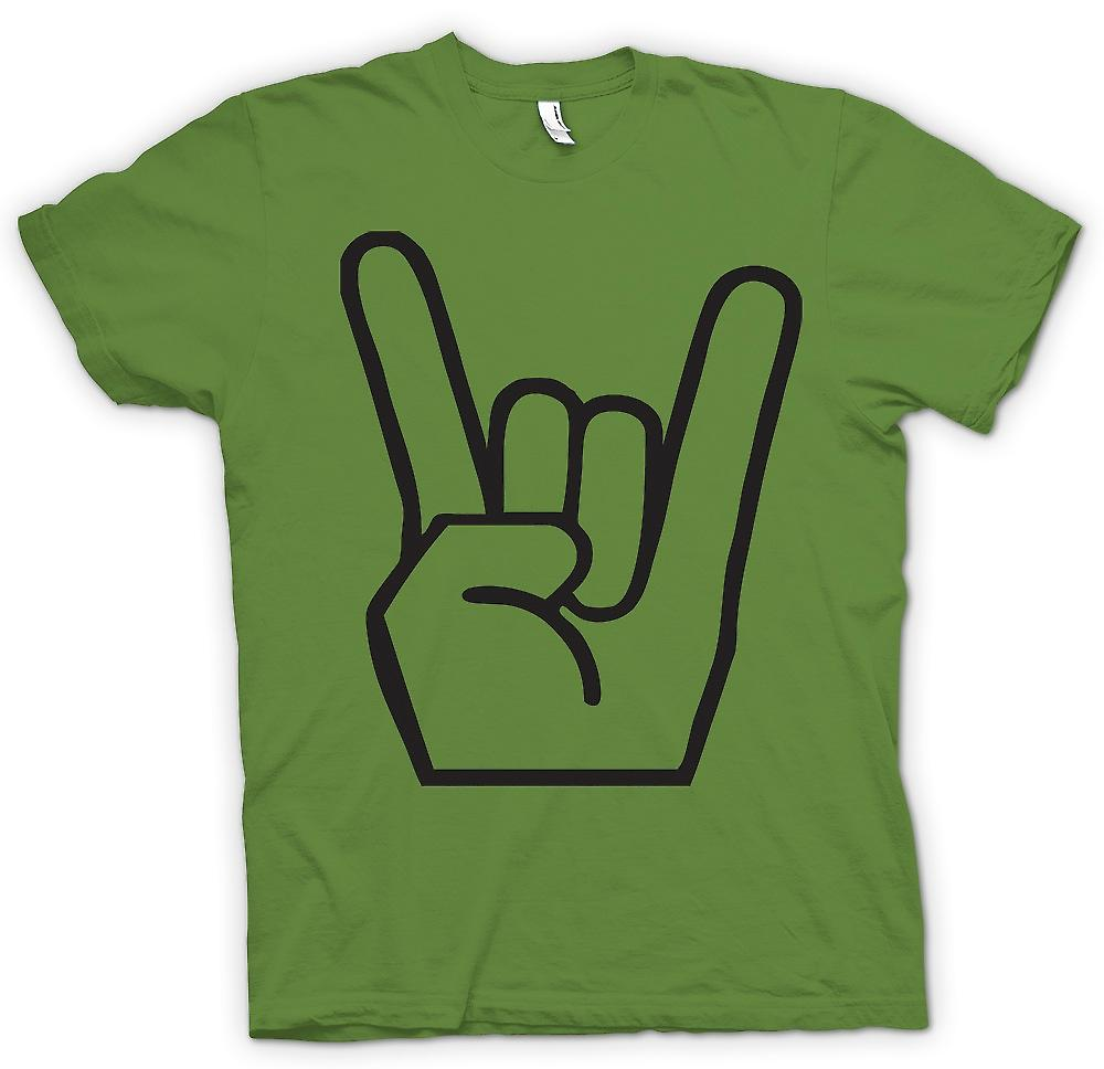 Herr T-shirt-metall Finger tecken