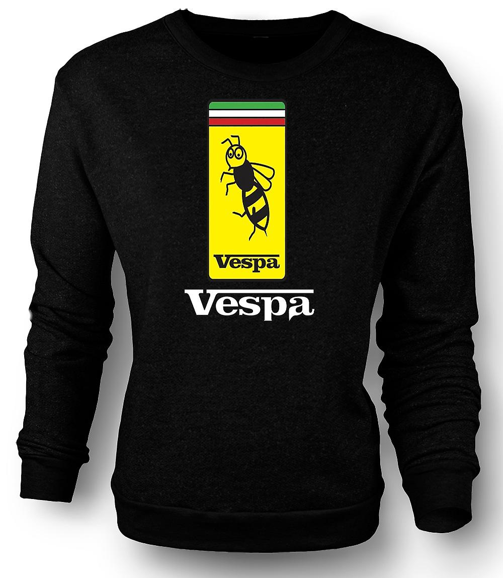 Mens Sweatshirt Vespa Scooter Badge - Bee - Mod