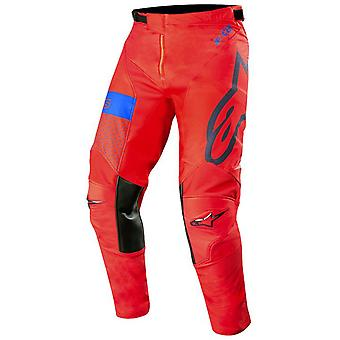 Alpinestars Red-marineblå 2019 Racer Tech Atomic MX bukse