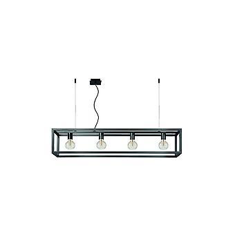 Lucide Oris industriële rechthoek staal grijze ijzeren hanger licht