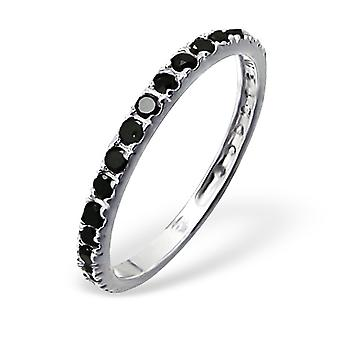 Eternity  - 925 Sterling Silver Cubic Zirconia Rings - W4118X