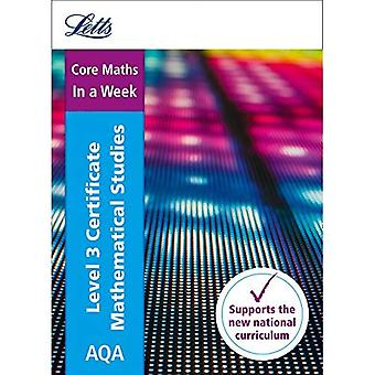 Letts A-level Revision Success - AQA Level 3 Certificate Mathematical Studies