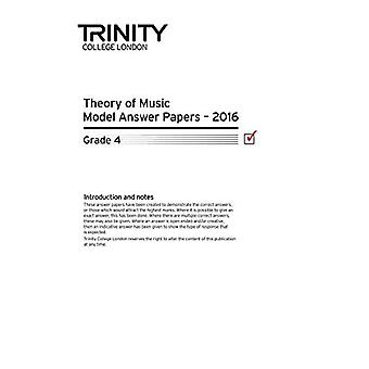 Trinity College London teori modell svar papper (2016) grad 4