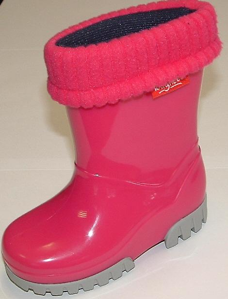 Toughees Removable Fleece Lined Pink Wellingtons