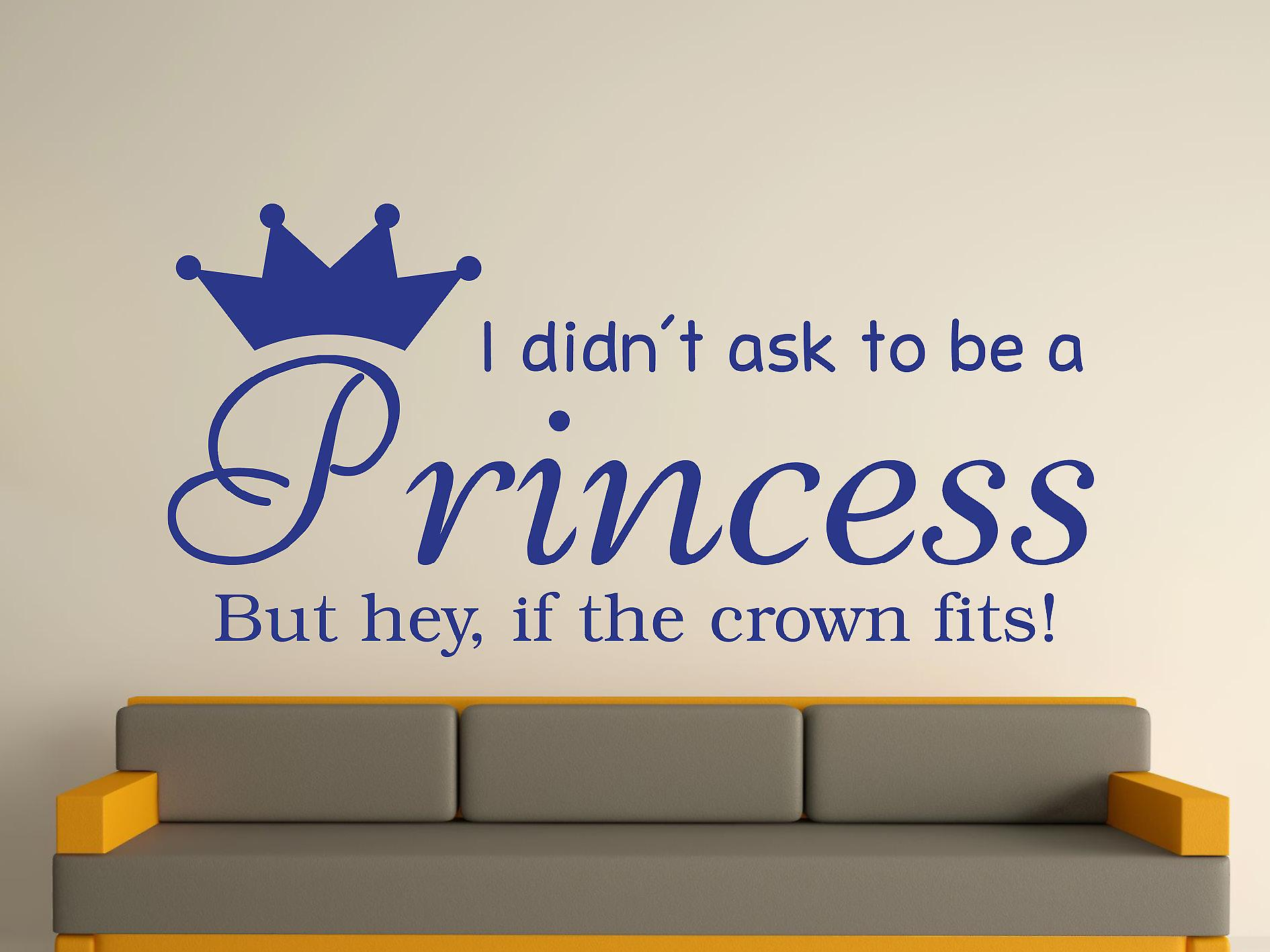 Wird A Princess v2 Wall Art Sticker - dunkelblau