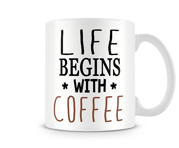 Life Begins With Coffee Mug