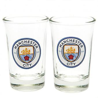 Manchester City 2pk Shot Glass Set