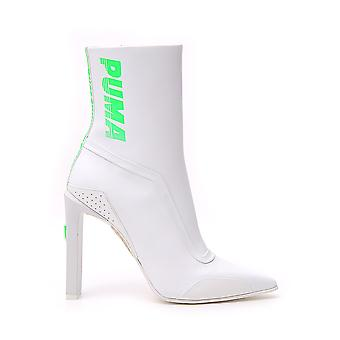 Puma White Leather Ankle Boots