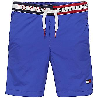 Tommy Hilfiger Boys Bold Pocket Swim Shorts, Surf The Web, Large