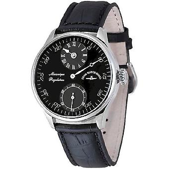 Zeno-watch mens watch Godat II regulator black 6274Reg-e1