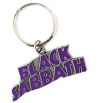 Black Sabbath Wavy Logo Collectable Metal Keyring