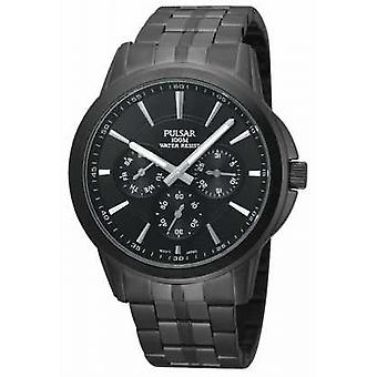 Pulsar Mens Black Ion-Plated Stainless Steel PP6015X1 Watch