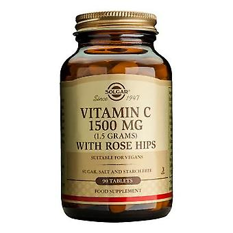 Solgar, Vitamin C 1500 mg med Rose hofter tabletter, 90