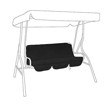 Gardenista® Black Replacement Canopy for 3 Seater Swing Seat