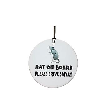 Rat On Board Car Air Freshener
