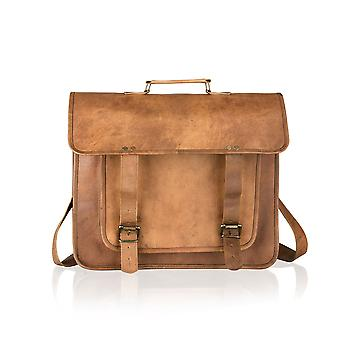 Vintage Tan Satchel Briefcase 16