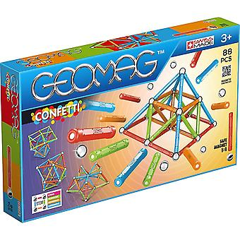 Geomag 353 Confetti Construction Toy Light Blu Orange Green Red