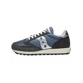 Saucony Saucony Navy & Silver Jazz Original Vintage Sneaker