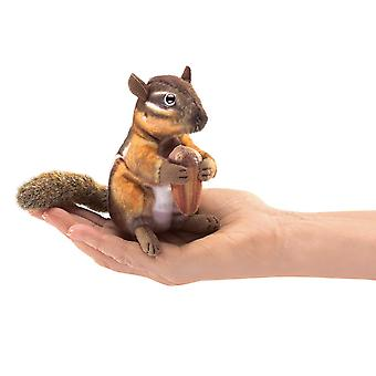 Finger Puppet - Folkmanis - Mini Chipmunk With Acorn New Toys Soft Doll Plush 2771