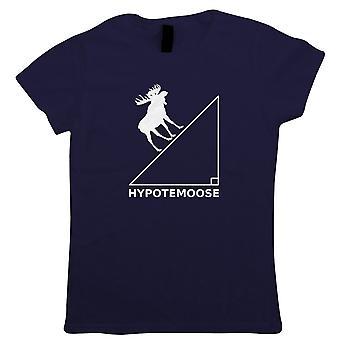 Hypotemoose Womens T-Shirt   Math Problem Sum Quiz Calculus Algebra Geometry    Modern Art Design Illustrator Artwork Collection   Gift Her Mum   Guest Artist JG