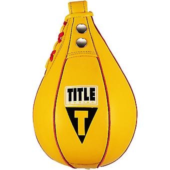 Title Boxing Super Fast Leather Speed Bag - Gold