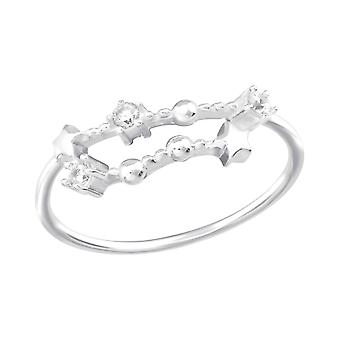 December-Capricorn Constellation - 925 Sterling Silver Jewelled Rings - W38596X