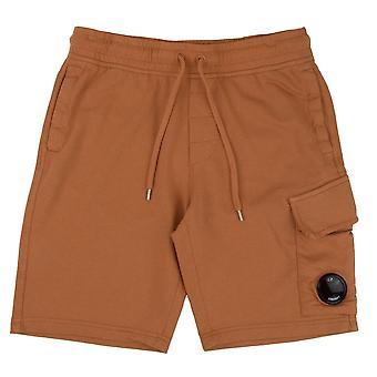 CP Company Lens Sweat Shorts Orange 435